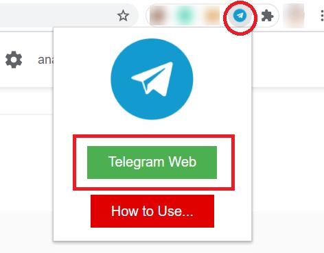 Telegram Web Chrome Extension open